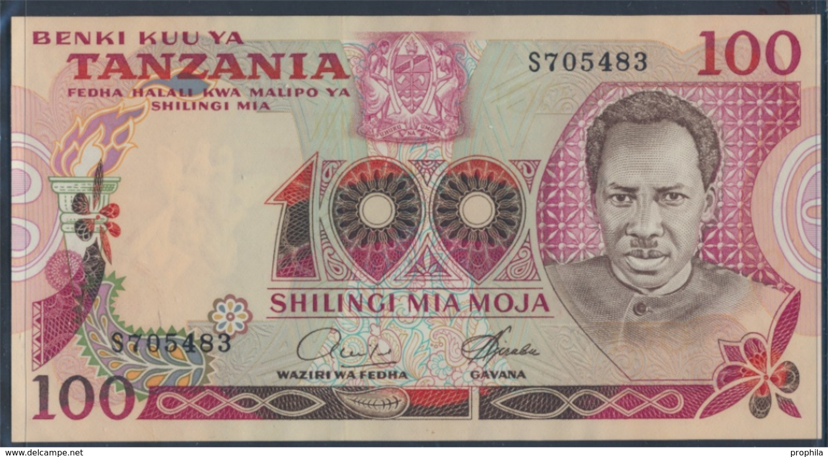 Tansania Pick-Nr: 8a Bankfrisch 1977 100 Shilingi (8163291 - Tanzanie