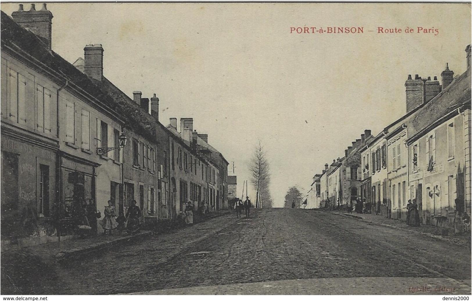 PORT-A-BINSON -route De Paris -ed. Debilte ( Hameau De Mareuil-le-Port ) - France