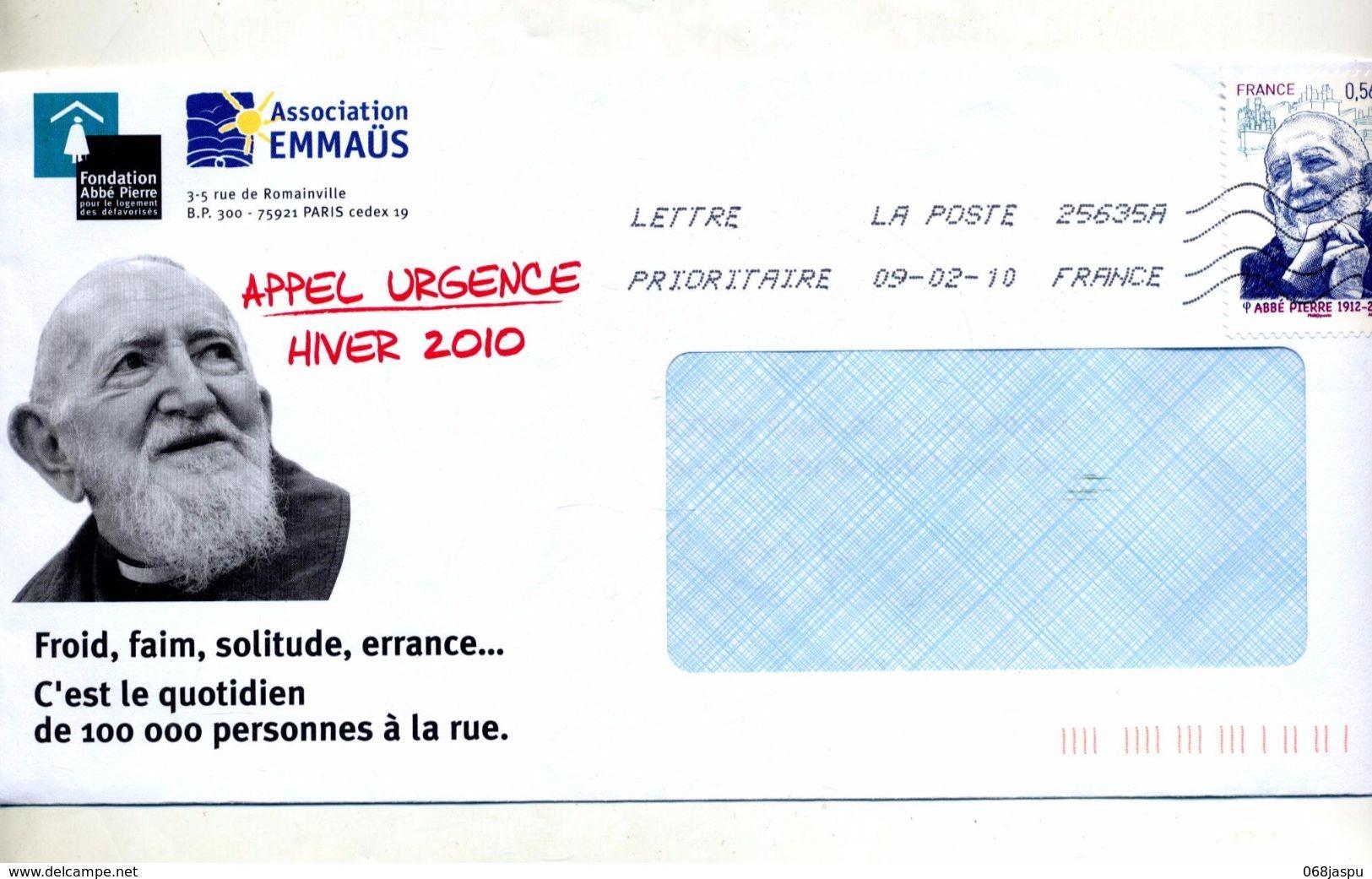 Lettre Flamme Chiffree Sur Abbe Pierre Entete Concordante - Maschinenstempel (Werbestempel)