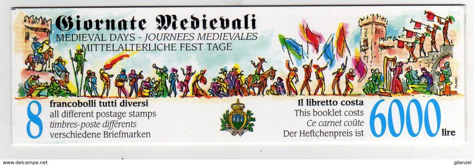 San Marino 1996 Libretto Carnet Giornate Medievali Mittelalterliche Fest Tage Medievals Days - Stamps