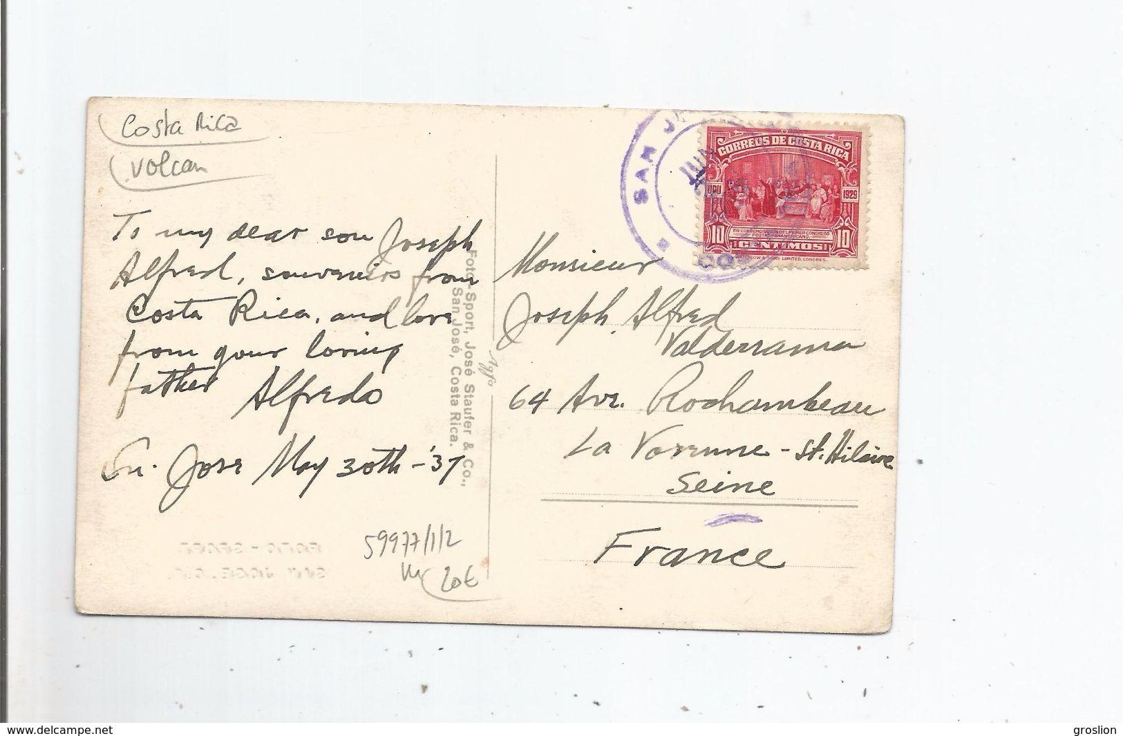 COSTA RICA CRATER VOLCAN IRAZU 1937 - Costa Rica