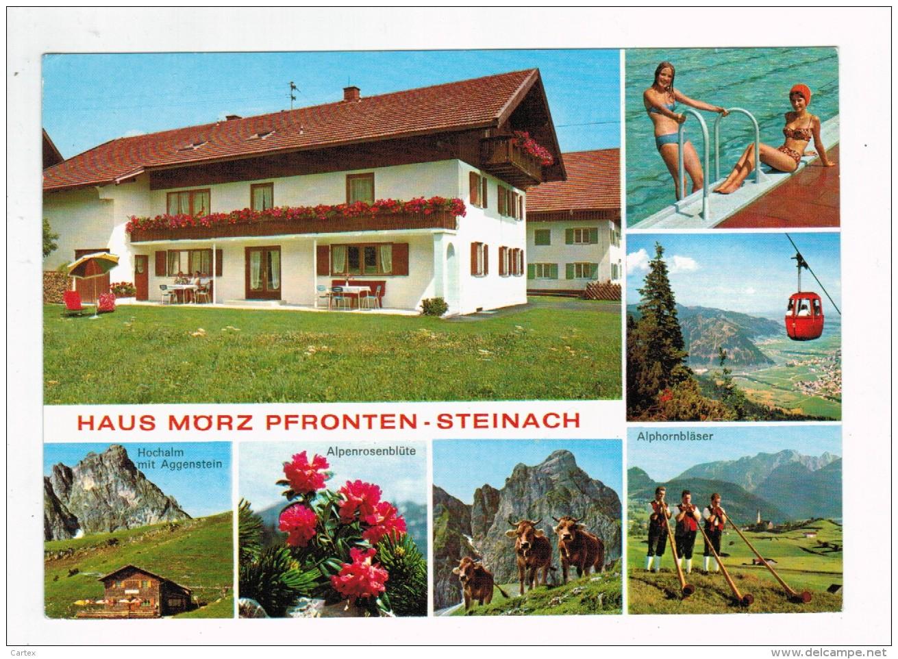 """19733  CPM PFRONTEN - STEINACH  Im Allgau  """" HAUS MÖRZ """"   Multivues  1985  ! - Pfronten"""