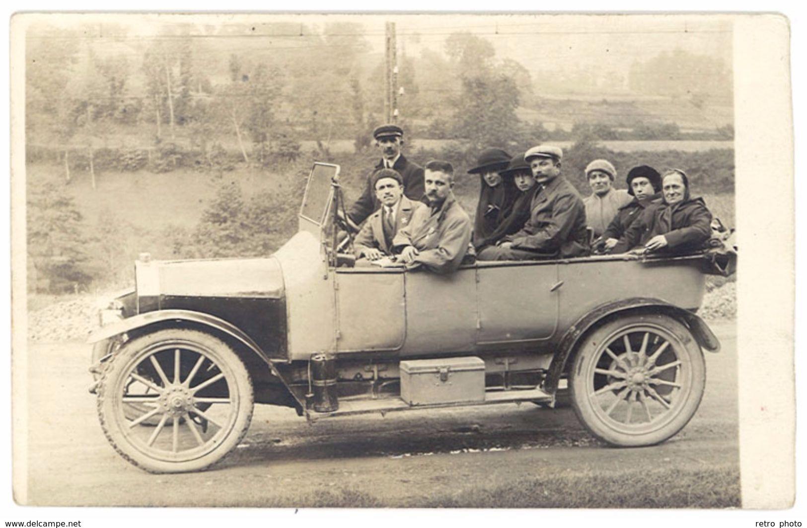 Cpa Carte-photo Lourdes, Automobile Torpédo Unic  ( AU ) - Taxi & Carrozzelle