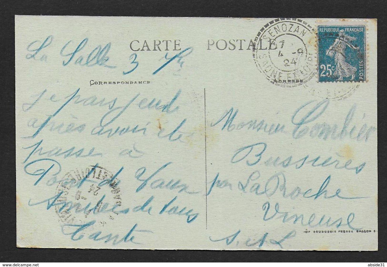 Saone Et Loire - Cachet Pointillé De SENOZAN - Marcophilie (Lettres)