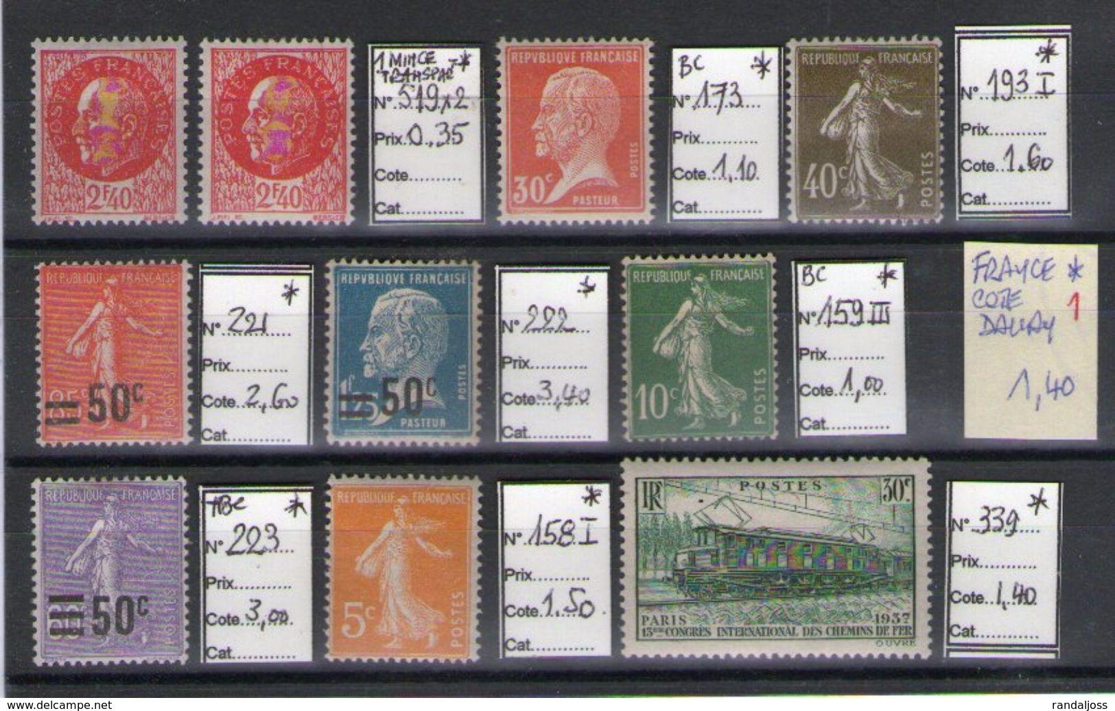 Lot De France Neufs*_voir Scan - Colecciones Completas