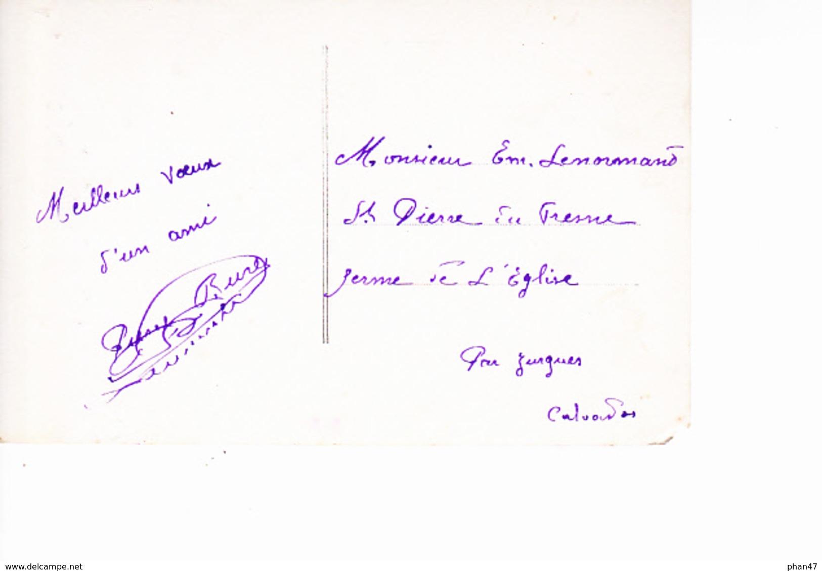 BONNE ANNEE, Jeune Fille Et Harpe, Ed. Perfecto 1916 - Nouvel An