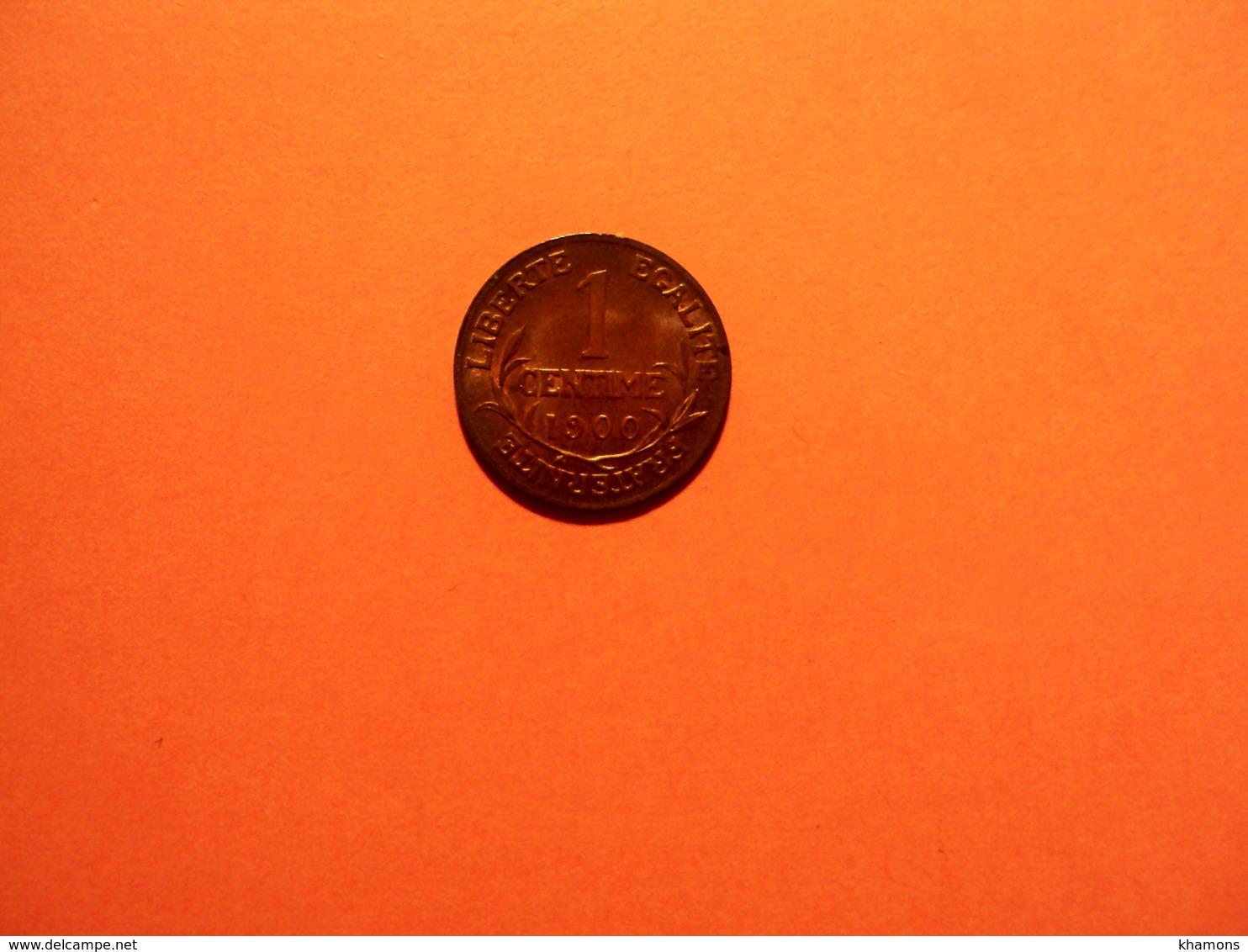 1 CENTIME DANIEL DUPUIS BRONZE ANNEE 1900  RARE EN SUP 50 EUR AU LIEU DE 150. - Francia