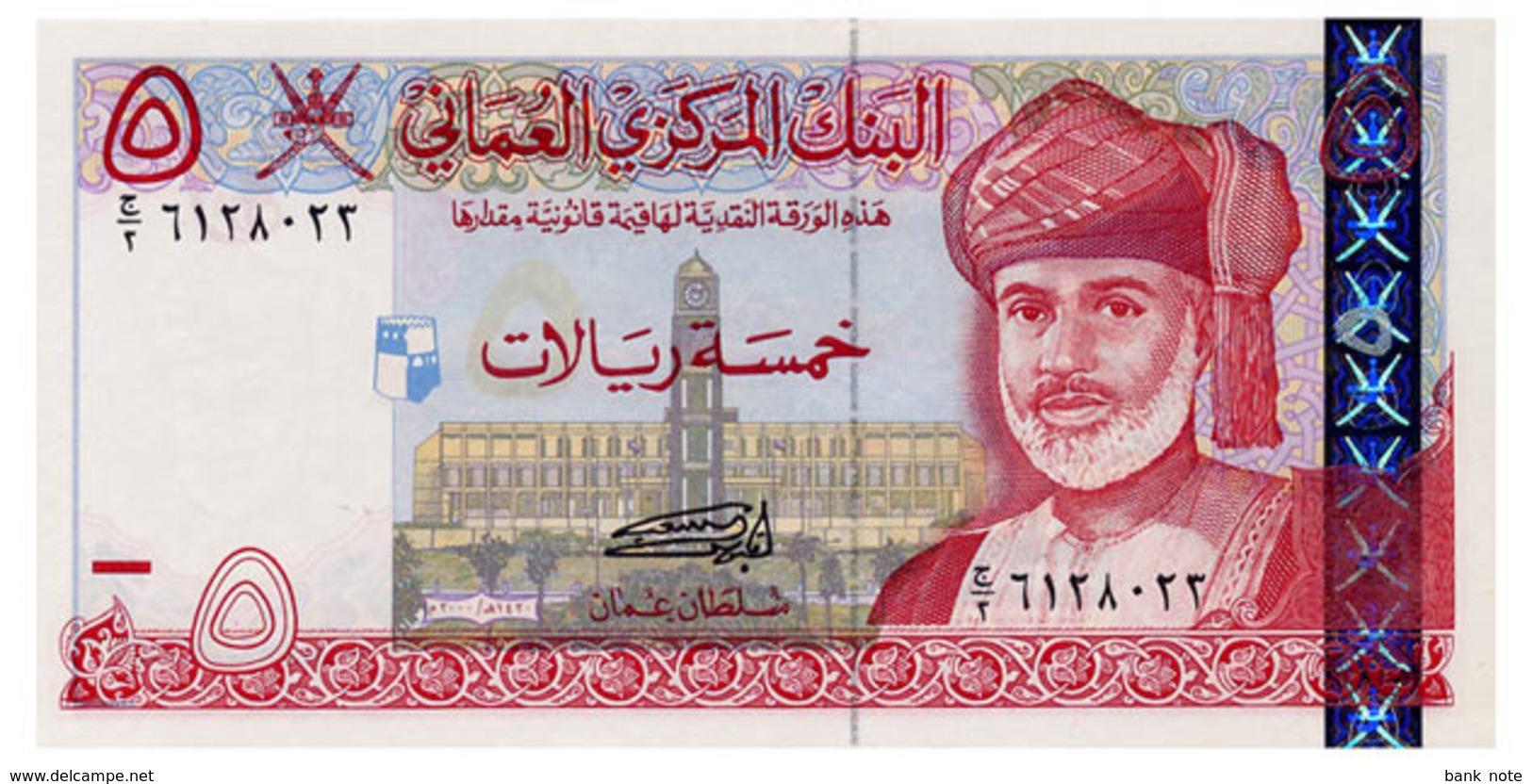 OMAN 5 RIAL 2000 Pick 39 Unc - Oman