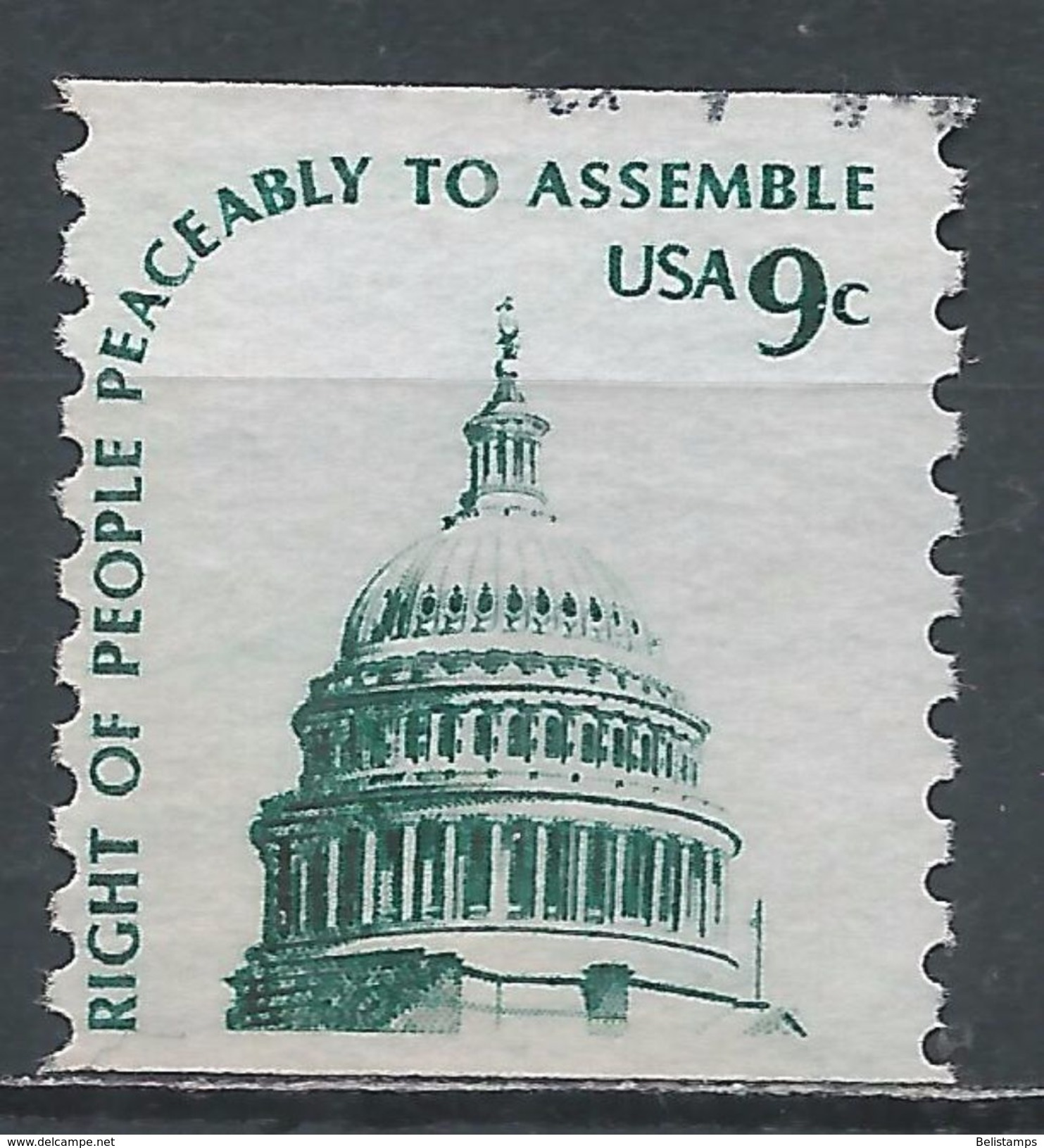 United States 1975. Scott #1616 (U) Dome Of Capitol - Rollen