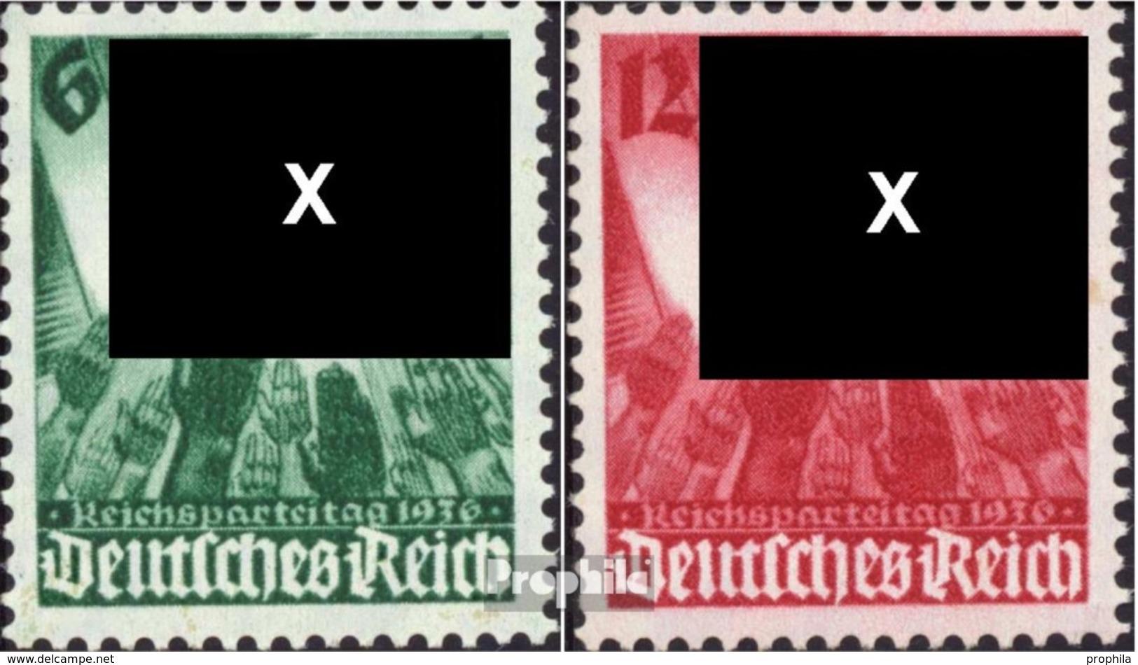 Deutsches Reich 632-633 (kompl.Ausg.) Postfrisch 1936 Parteitag - Ungebraucht