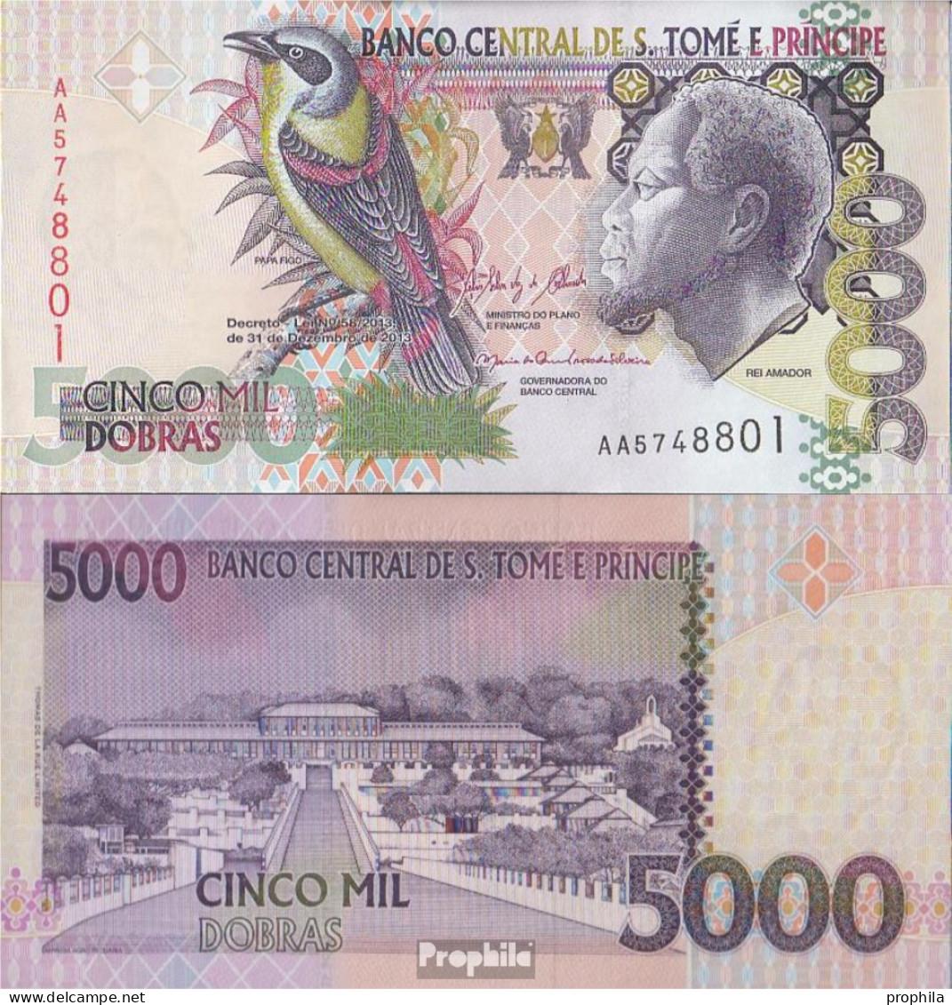 Sao Tome E Principe Pick-Nr: 65d Bankfrisch 2013 5.000 Dobras - Sao Tome And Principe
