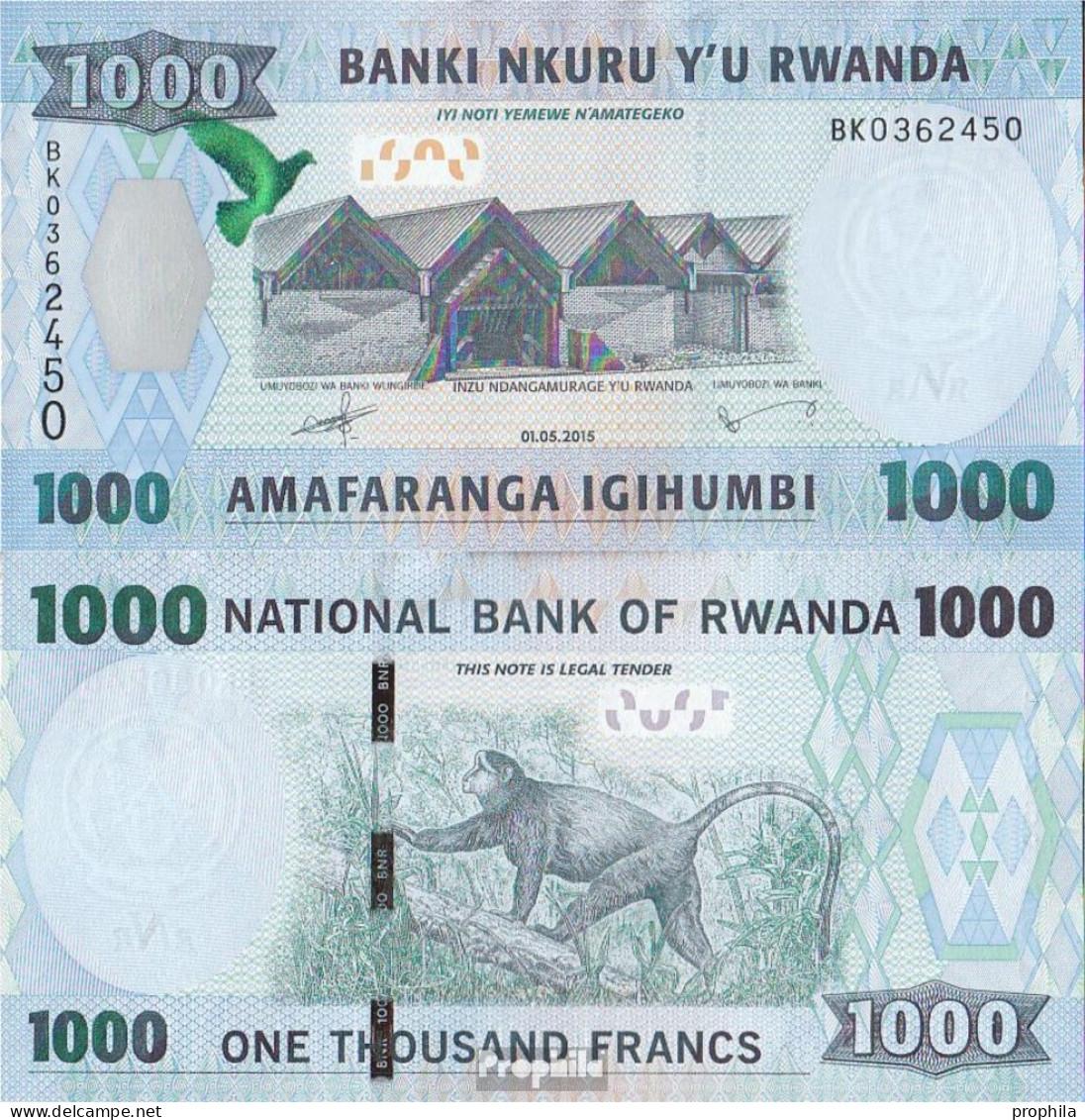 Ruanda Pick-Nr: 39 Bankfrisch 2015 1.000 Francs - Ruanda