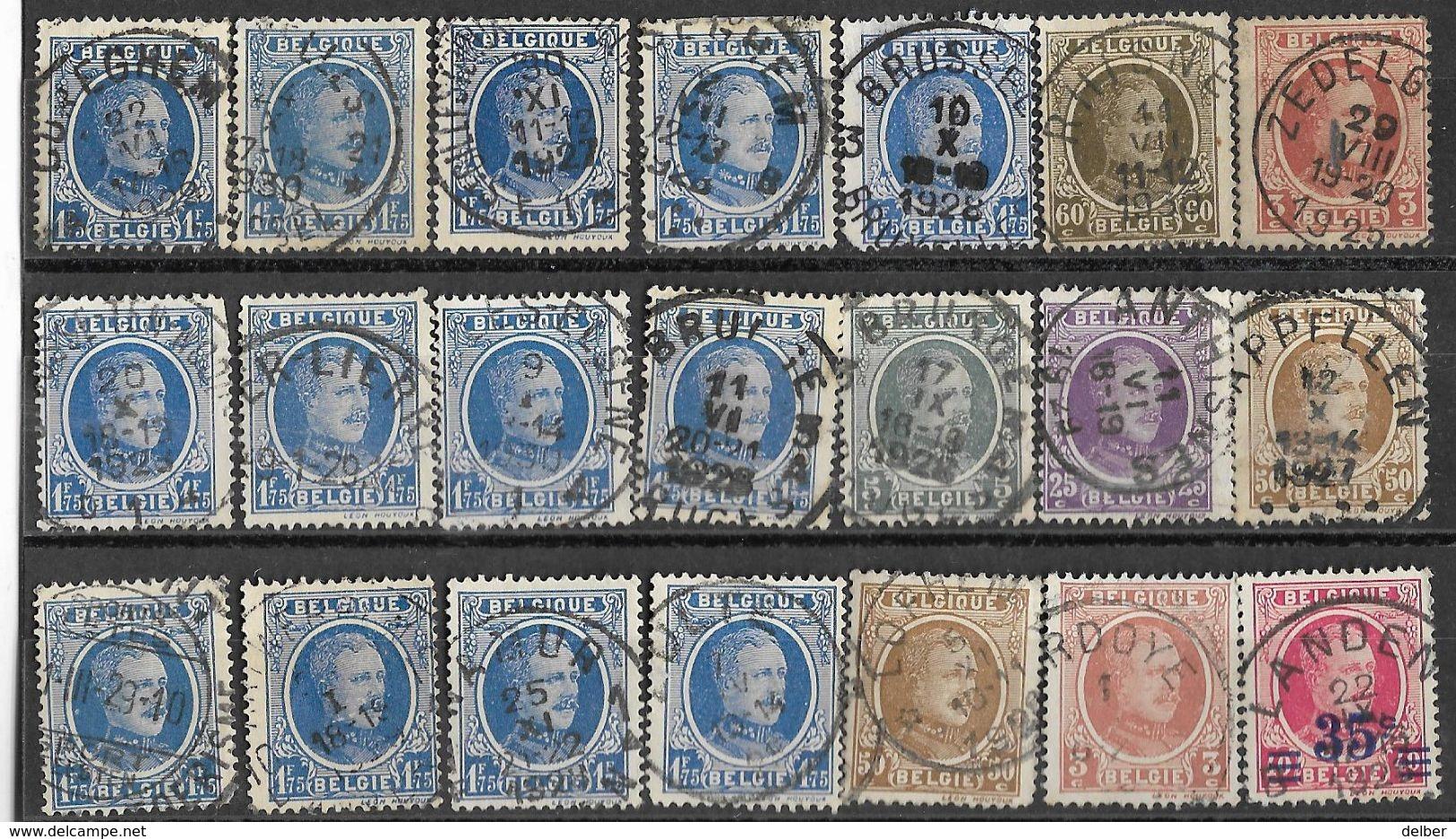 _6R-447:  Restje Van 21 Zegels .. Diverse: O.a.  Wat Stempels.... ..om Verder Uit Te Zoeken.. - 1922-1927 Houyoux