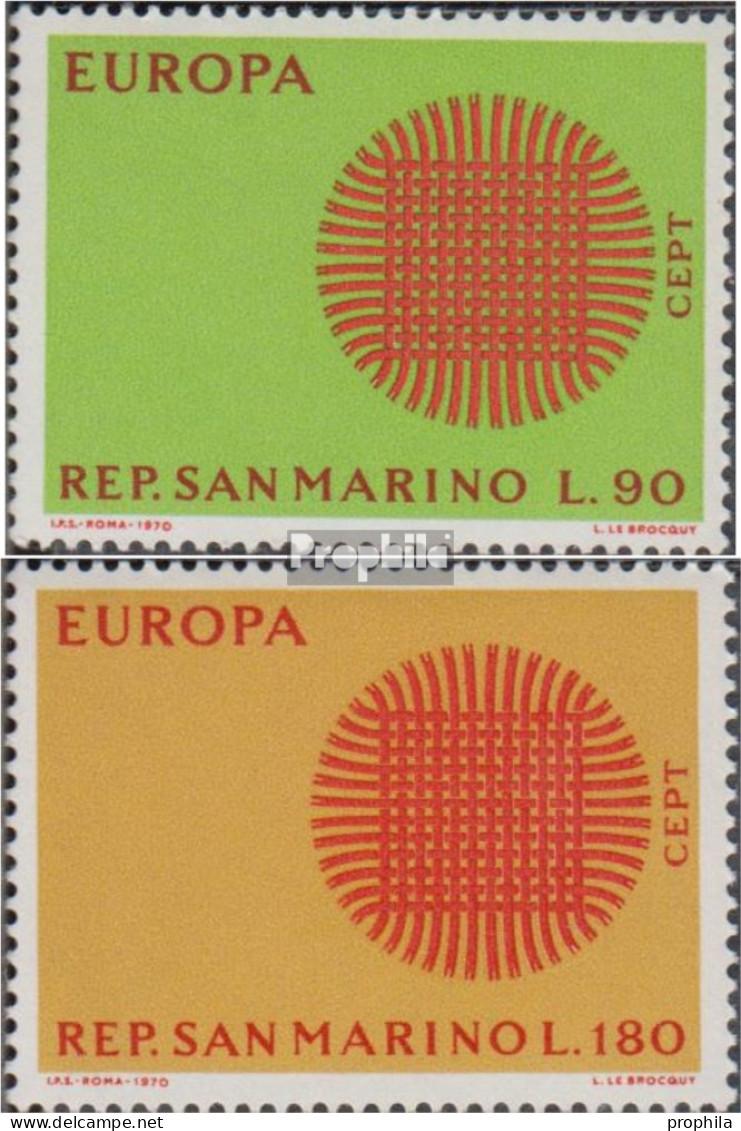 San Marino 955-956 (kompl.Ausg.) Postfrisch 1970 Europa - San Marino