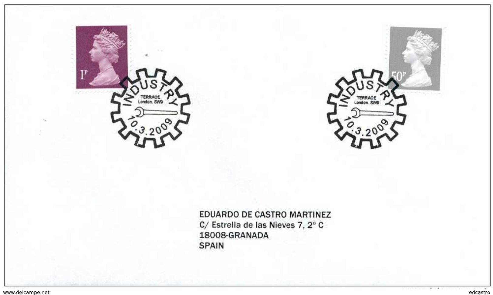 GREAT BRITAIN 2009. SPECIAL POSTMARK. PIONERS OF THE INDUSTRIAL REVOLUTION. TOOLS - Fábricas Y Industrias