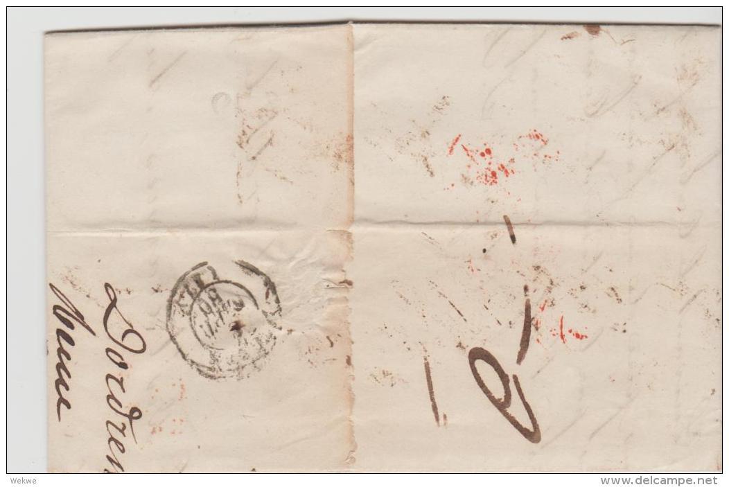 NLC041 / Derdrecht 1850, L.P.B.4 R Nach Frankreich - Niederlande