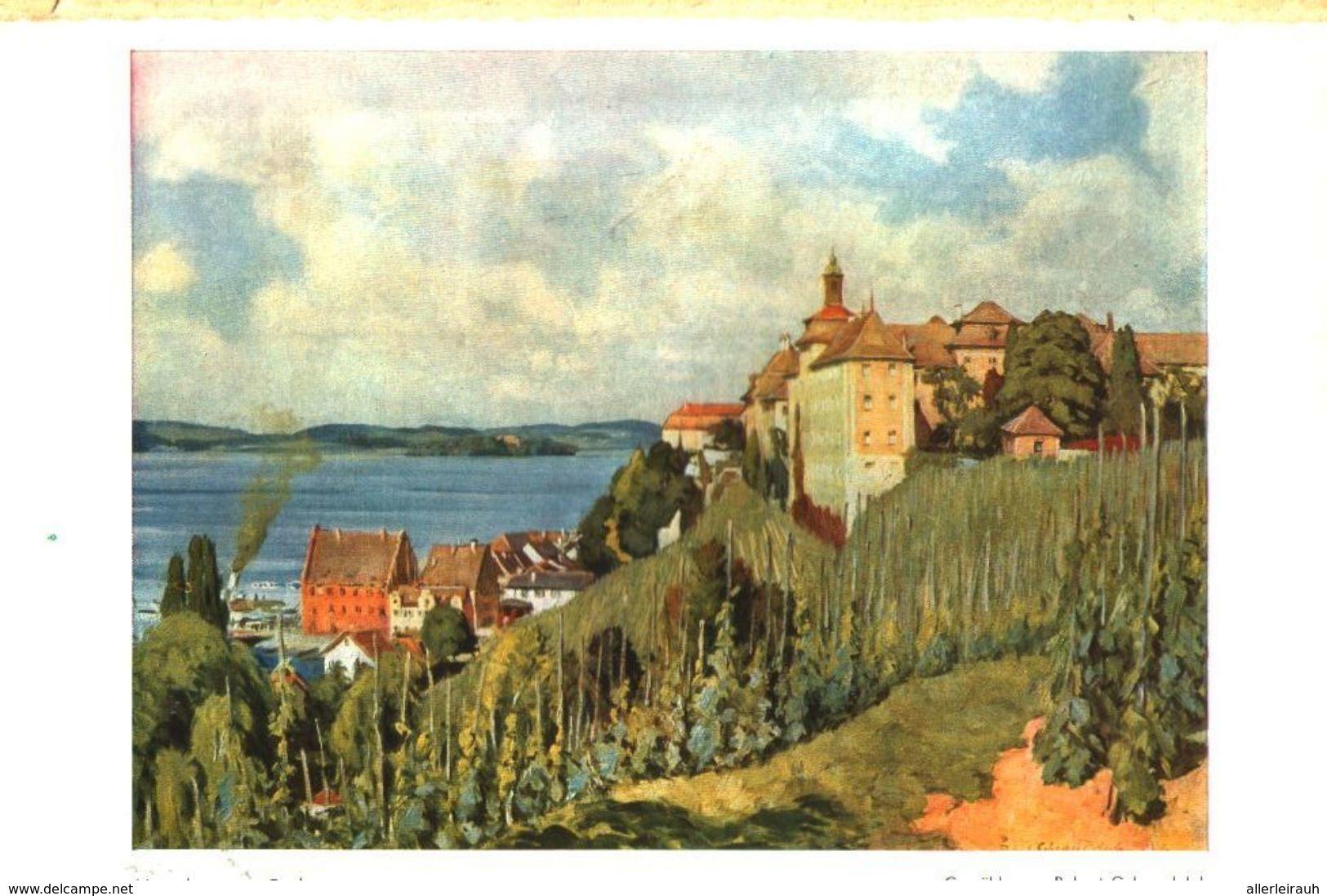 Meersburg Am Bodensee (nach Einem Gemälde Von Robert Gehrandolph)  / Druck, Entnommen Aus Zeitschrift /1944 - Bücher, Zeitschriften, Comics