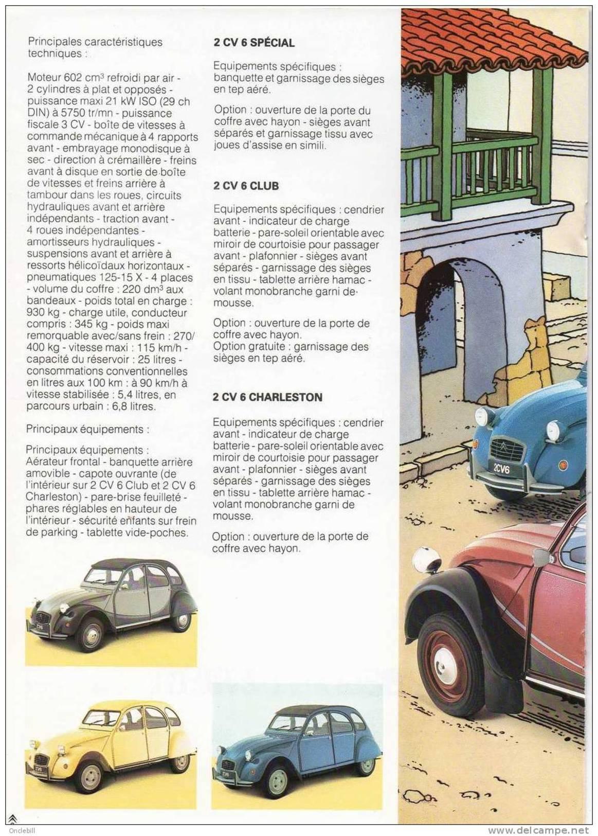 TINTIN Les Aventures De La 2 CV Brochure Publicitaire Citroen 8 Pages 1985 Publicité 2CV Format 21x27 état Superbe - Tim Und Struppi (Tintin)
