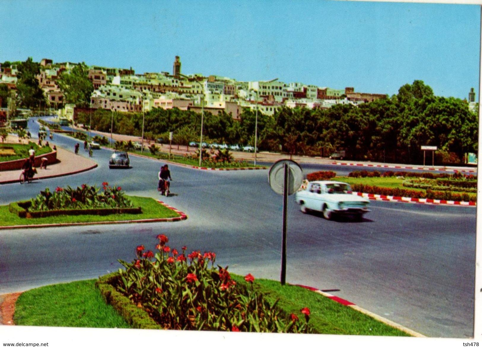 MAROC---MEKINES--panorama Ancien Ville-( Voitures Mercédes + Renault  R10 )-voir 2 Scans - Autres