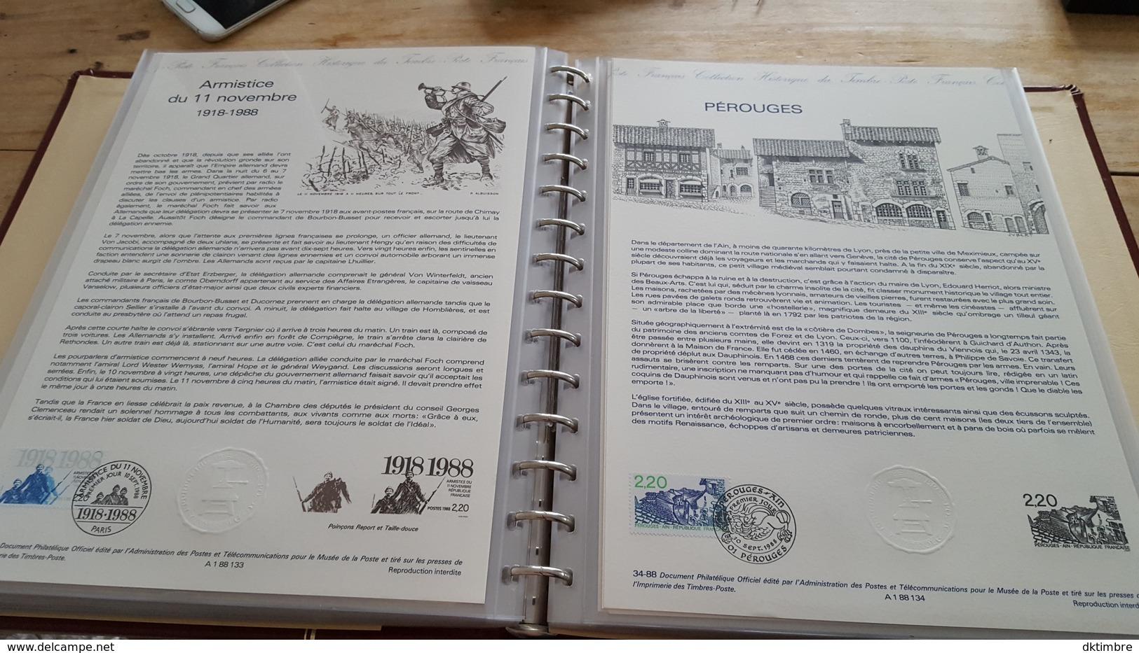 LOT 376835 ALBUM TIMBRE DE FRANCE DOCUMENT PHILATELIQUE DE 1988/89  PORT A 10 EUROS - Stamps