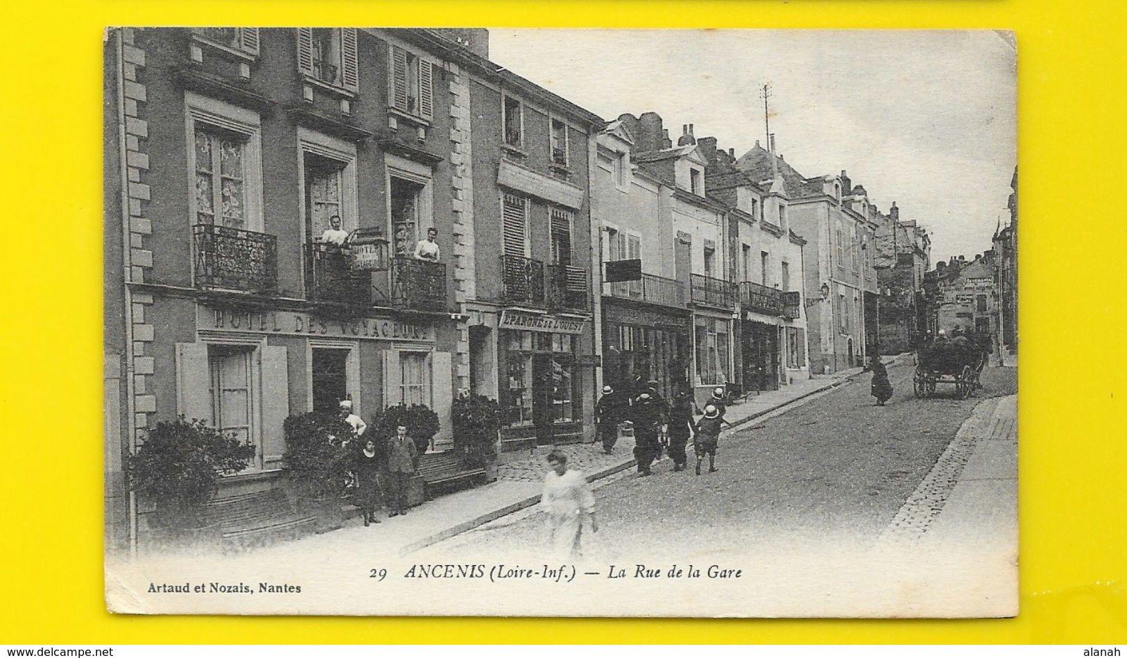 ANCENIS La Rue De La Gare (Artaud Nozais) Loire Atlantique (44) - Ancenis