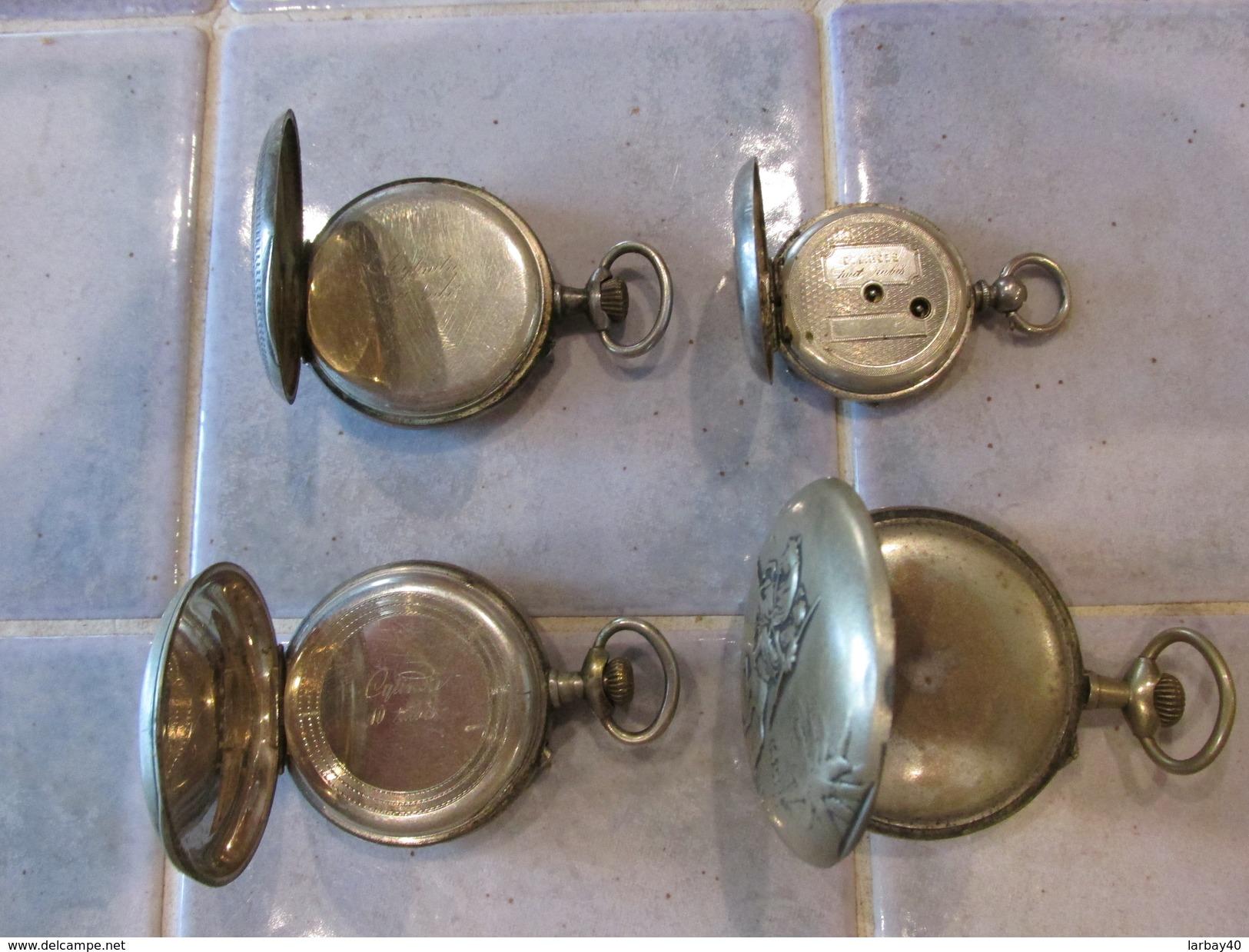 4 Montre Gousset Pour Piece - Horloge: Zakhorloge