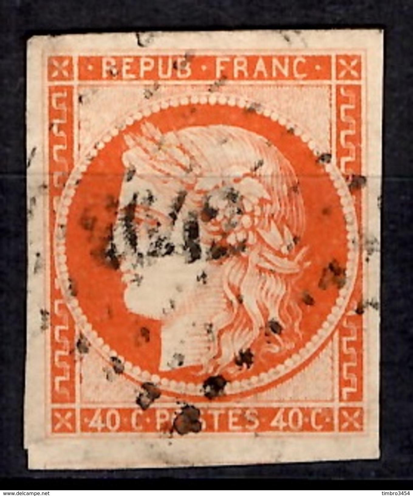France YT N° 5 Oblitéré. Premier Choix. Très Beau Timbre. A Saisir! - 1849-1850 Cérès