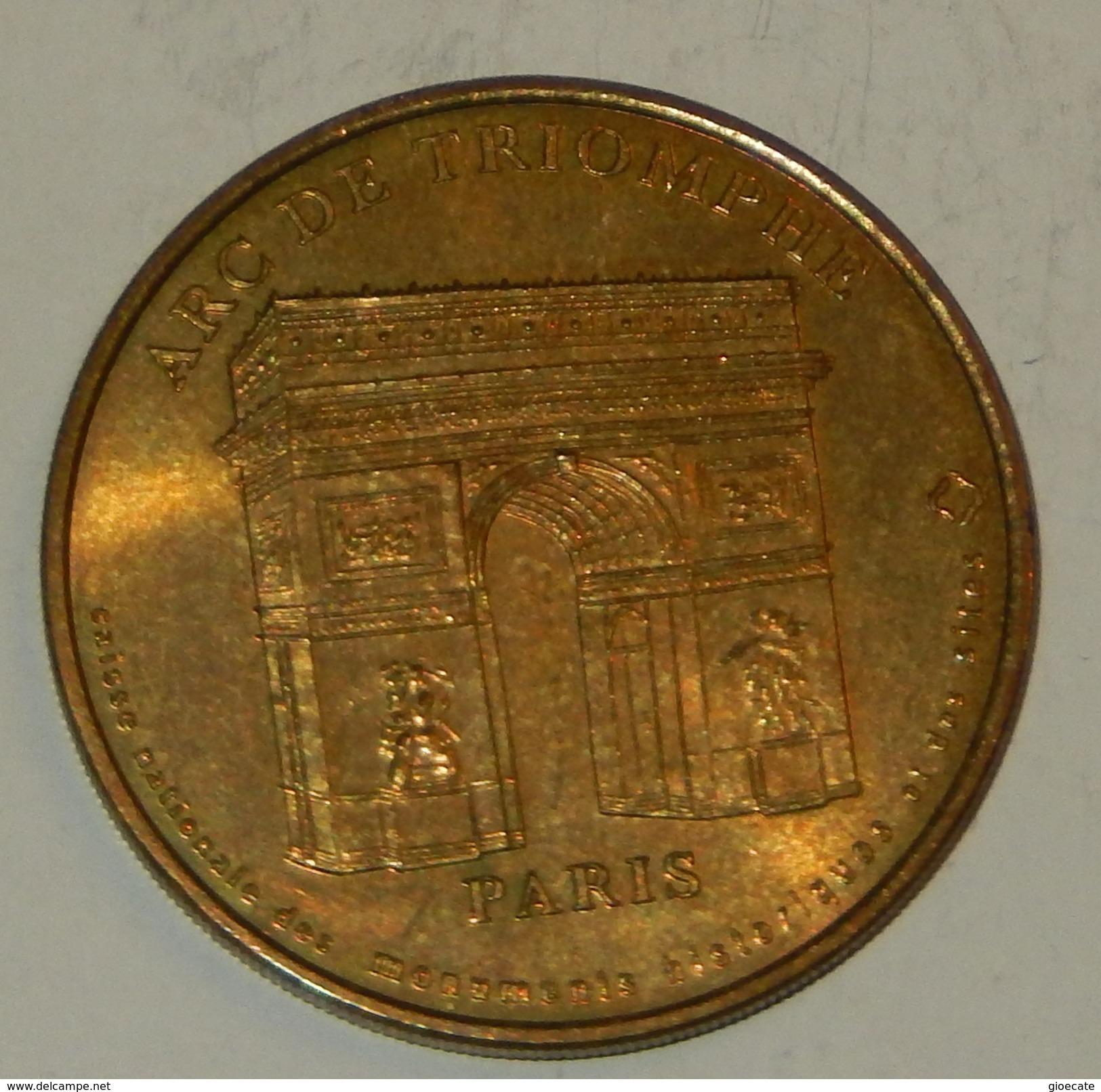 ARCH DE TRIOMPHE – PARIS  – GETTONE – COLLECION NATIONALE – MONNAIE DE PARIS – MEDAILLE OFFICIELLE – LIMITED ED.  – (97) - Monnaie De Paris
