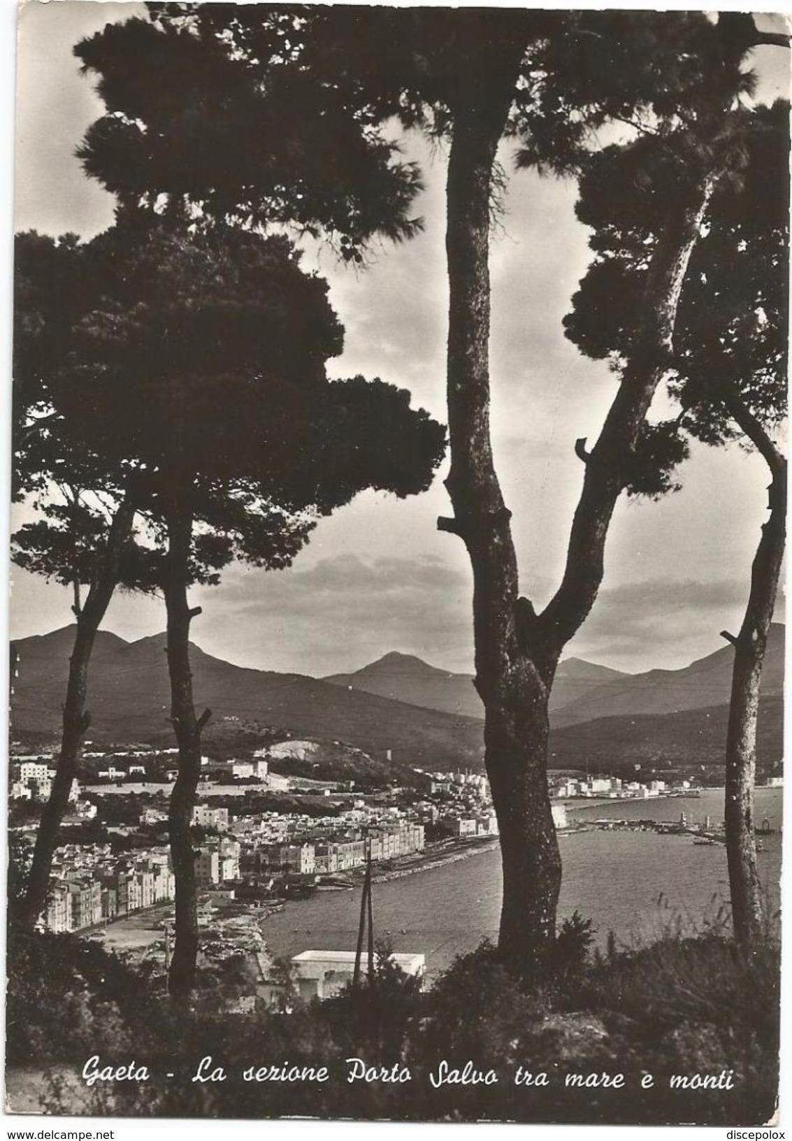 X1152 Gaeta (Latina) - La Sezione Porto Salvo Fra Mare E Monti - Panorama / Viaggiata 1961 - Altre Città
