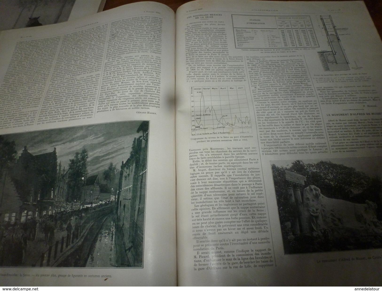 1910 L'ILLUSTRATION:Espagne;Wachter Tué-monoplan;Waldeck-Rousseau;Expo Bruxelles;Monoplan Blériot à Saïgon;Toulouse;etc - Journaux - Quotidiens