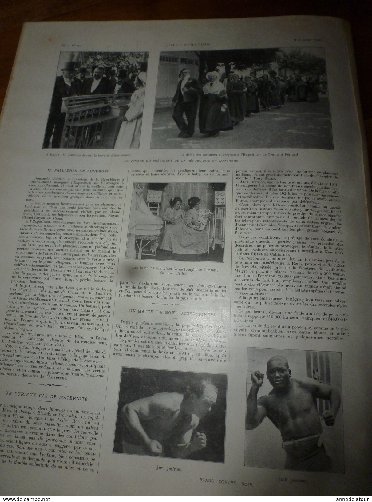 1910 L'ILLUSTRATION:Espagne;Expo Bruxelles; Alfred De Musset,Cours-la-Reine;Monoplan Blériot à Saïgon; Toulouse;Boxe;etc - Journaux - Quotidiens
