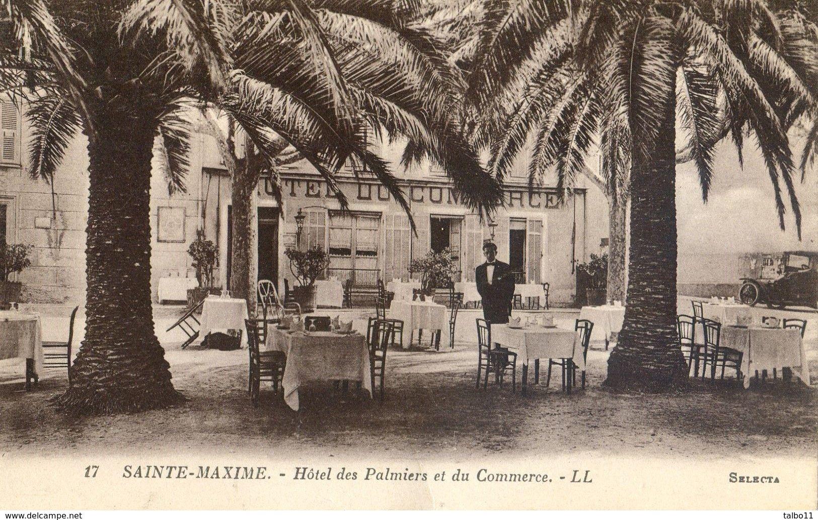83 - Sainte Maxime - Hotel Des Palmiers Et Du Commerce - Sainte-Maxime