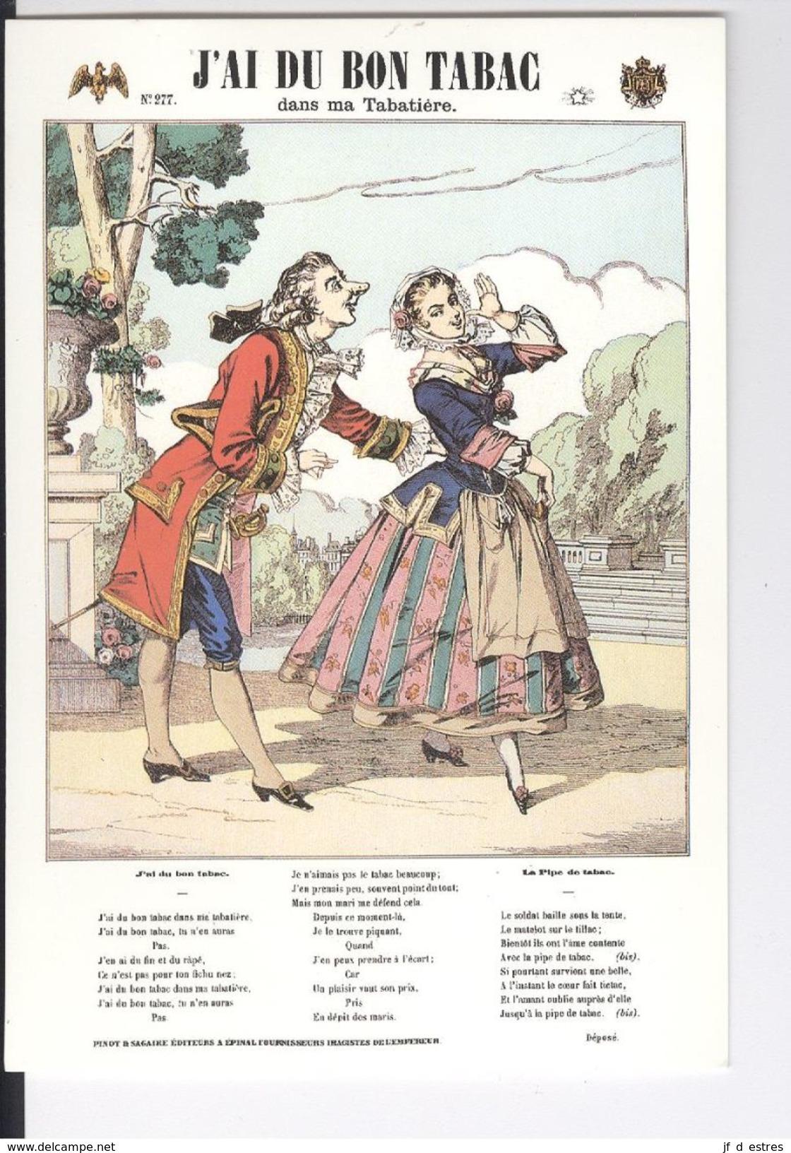 CP J'ai Du Bon Tabac Image D'Epinal Pinot Et Sagaire - Museos