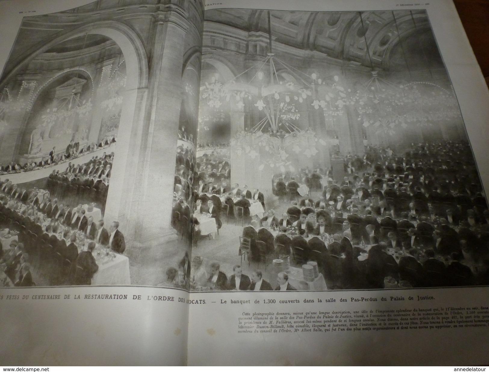 1910 L'ILLUSTRATION:Chasse à L'aigle En Chine;Construction Du JEAN-BART à Brest;Crue Du Rhône à Beaucaire;etc - Journaux - Quotidiens