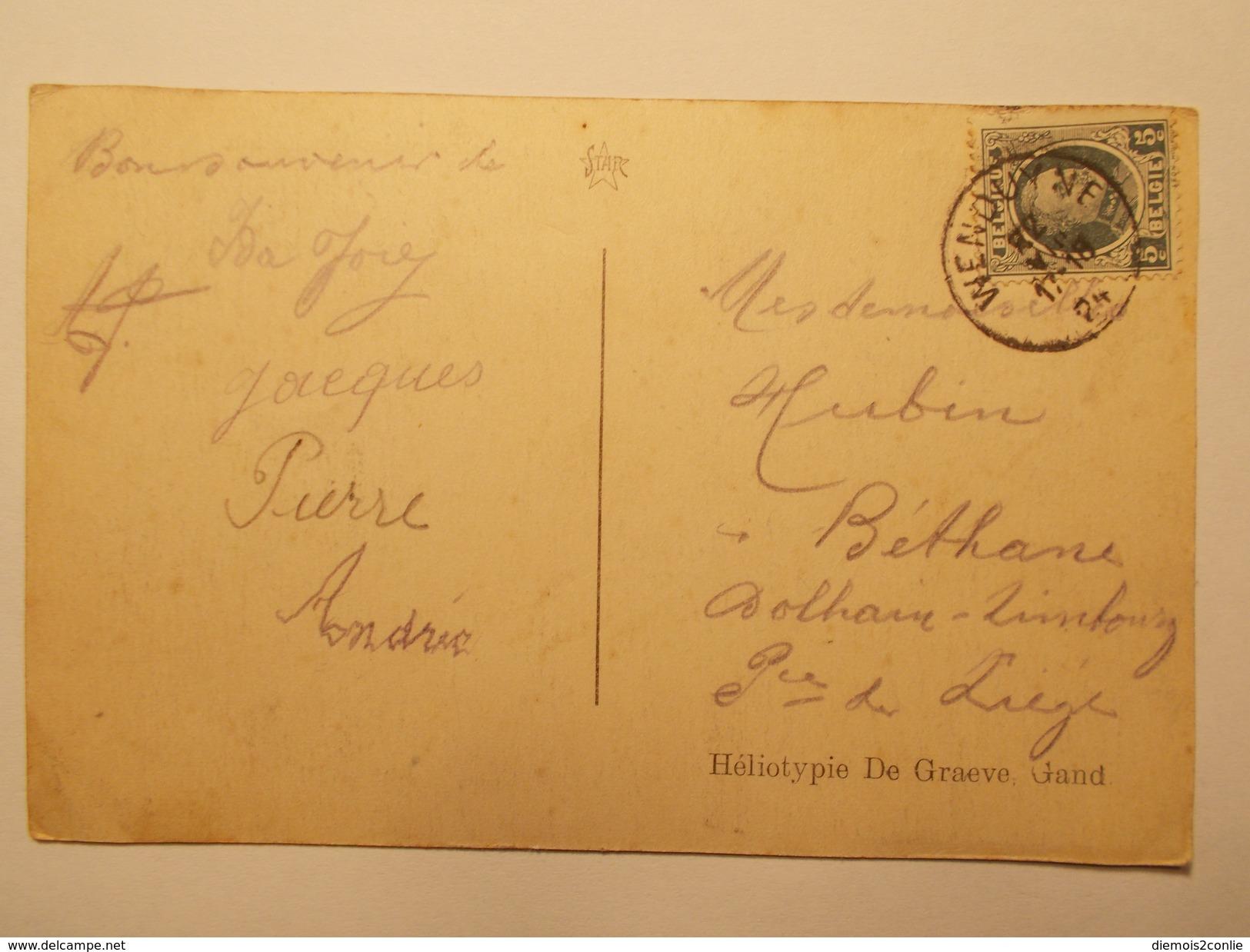 Carte Postale - BELGIQUE - Wenduyne - Le Monument Des Combattants (1955) - Wenduine
