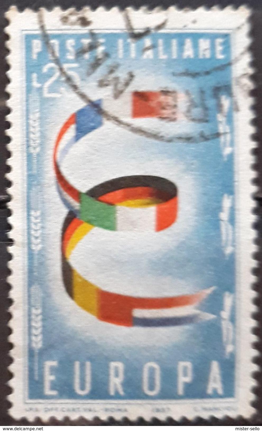 ITALIA 1957 EUROPA Stamps. USADO - USED. - 1946-60: Usados