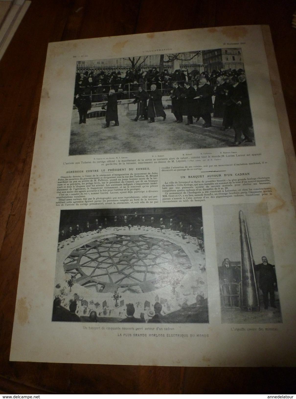 1910 L'ILLUSTRATION:Elisabeth De Belgique;Fin TOLSTOÏ;Féministe Anglais;Tombeau De KOUANG-SU;Révolution à Lisbonne;etc - Journaux - Quotidiens