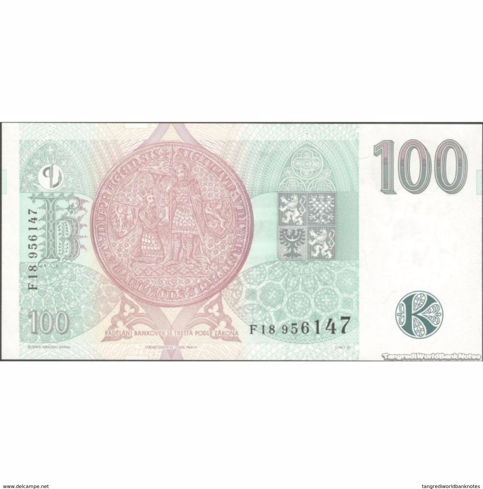 TWN - CZECH REPUBLIC 18a - 100 Korun Ceskych 1997 Series F18 UNC - Repubblica Ceca