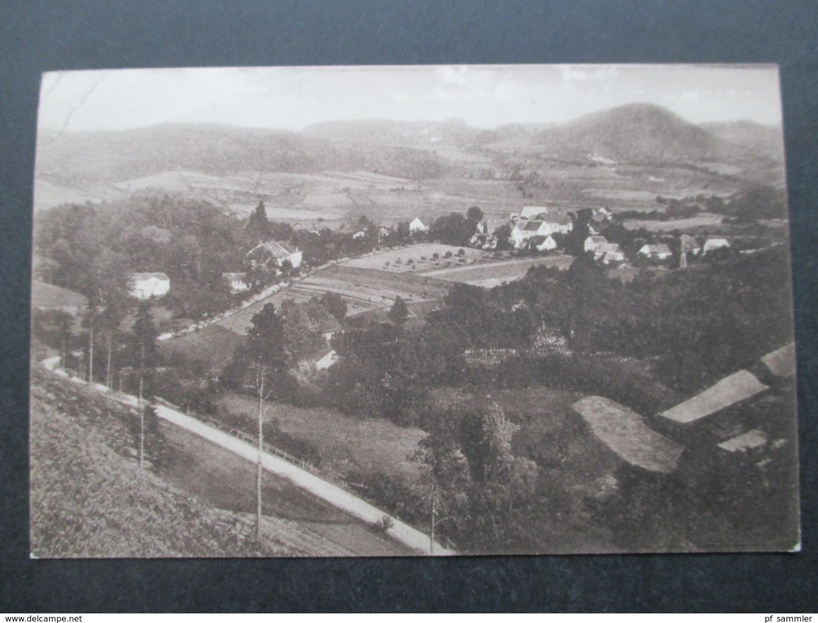 AK / Fotokarte 1935 Bad Geltschberg Mit Ober Wessig Nordböhmen / Sudeten. Panorama. Winziger Ort! - Sudeten