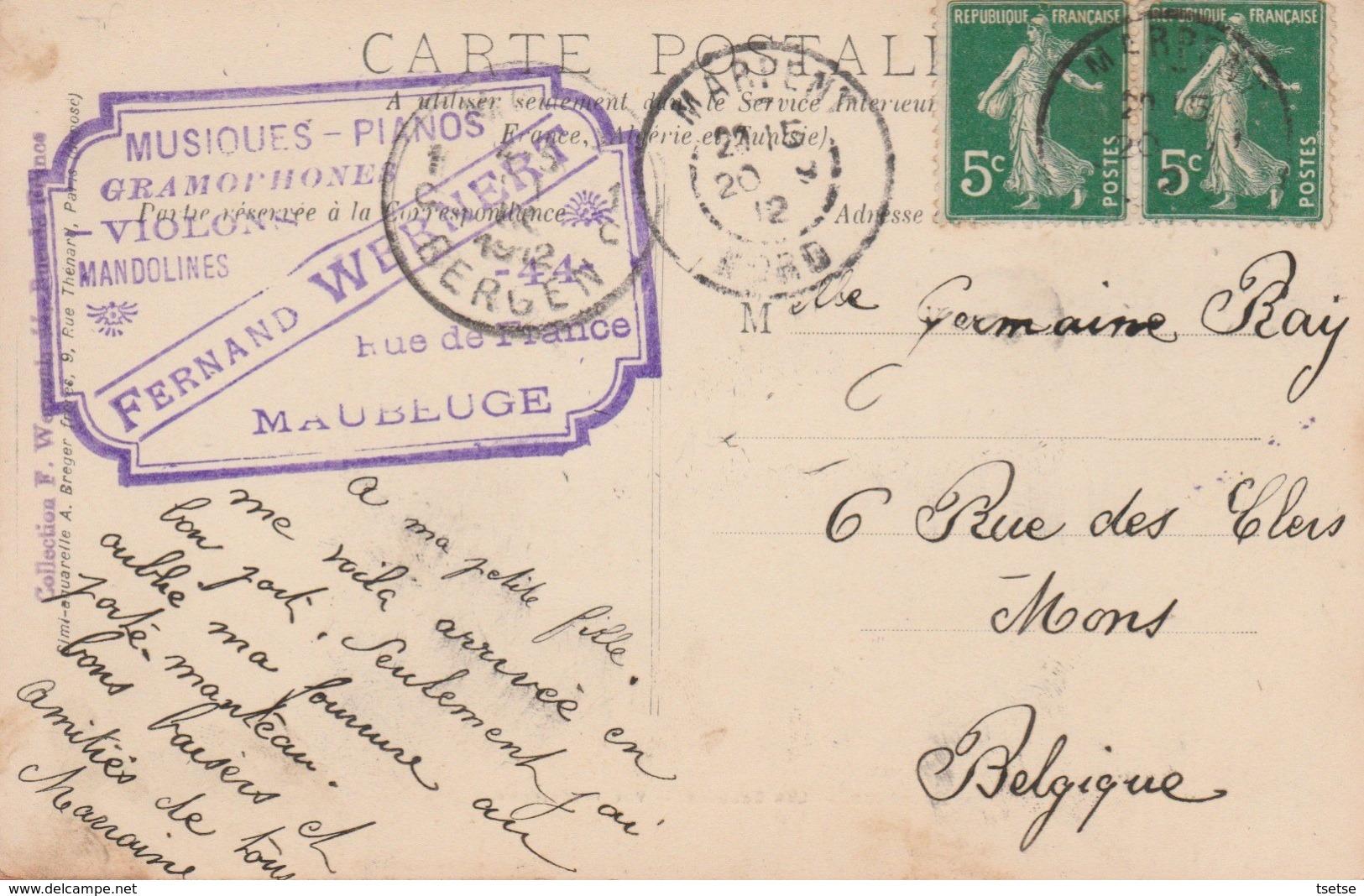 Maubeuge - Les Ecluses - Vue Intérieure - 1912  ( Voir Verso ) - Maubeuge