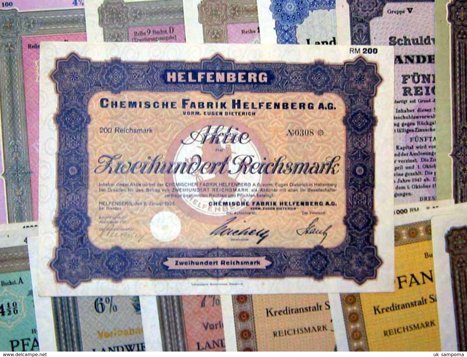 154 Verschiedene HWPs Dresden 1924-1943 Deko - Shareholdings