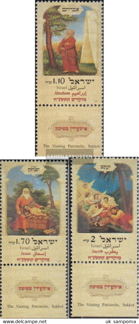 Israel 1439-1441 With Tab (complete Issue) Unmounted Mint / Never Hinged 1997 Jewish Holidays - Israel