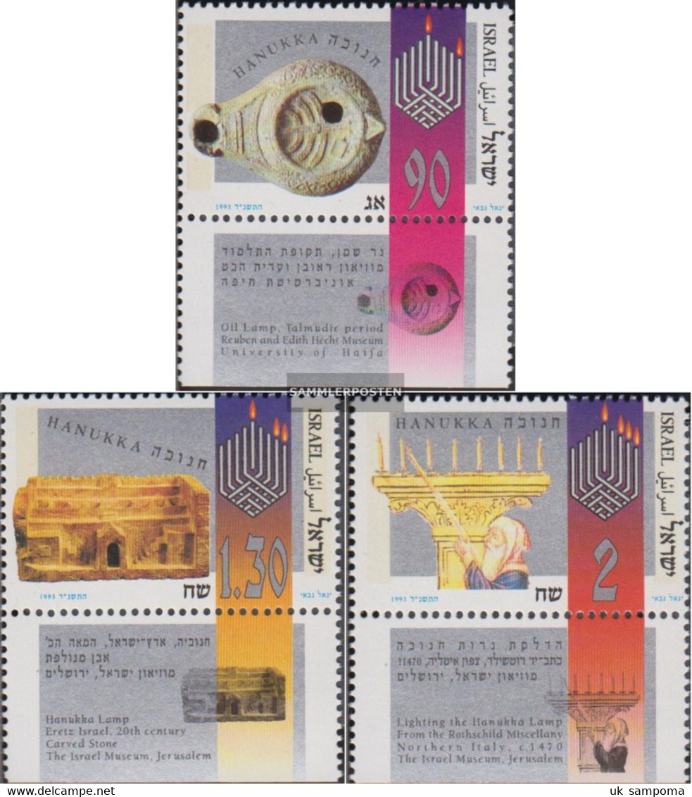 Israel 1282-1284 With Tab (complete Issue) Unmounted Mint / Never Hinged 1993 Chanukka - Israel