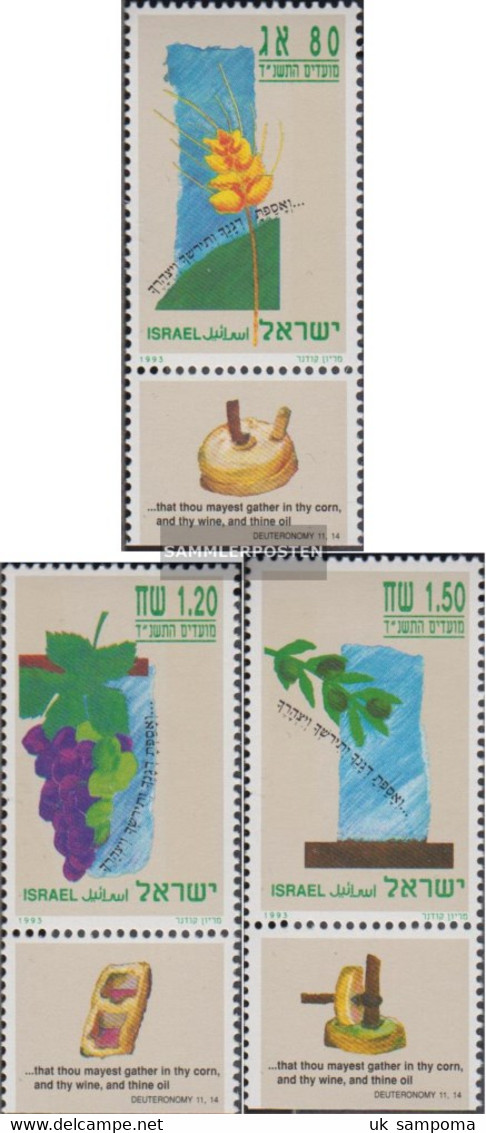 Israel 1274-1276 With Tab (complete Issue) Unmounted Mint / Never Hinged 1993 Jewish Holidays - Unused Stamps (with Tabs)