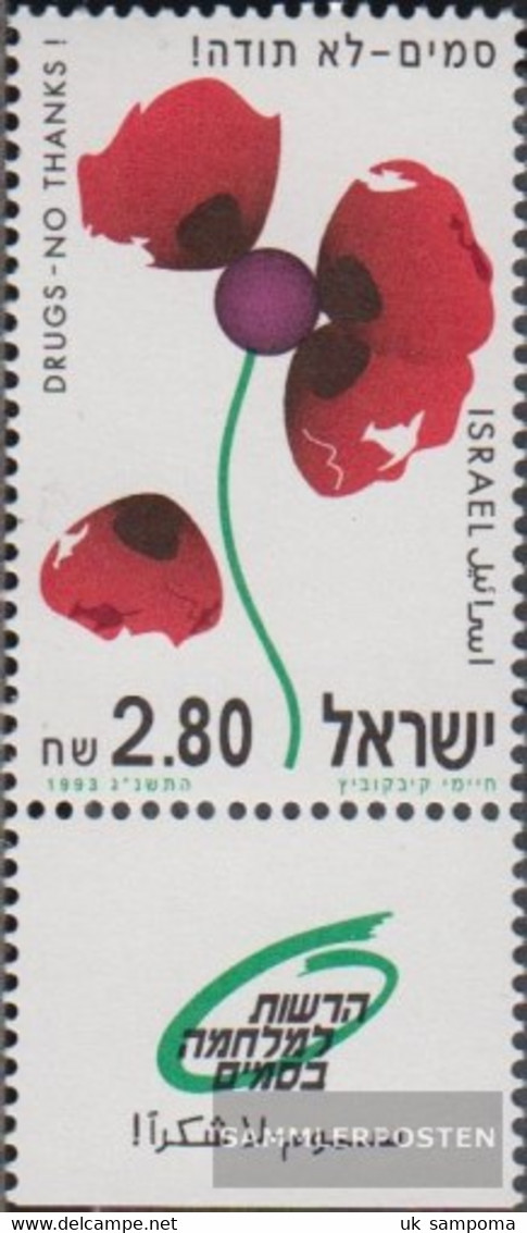Israel 1269 With Tab (complete Issue) Unmounted Mint / Never Hinged 1993 Drugs - Israel