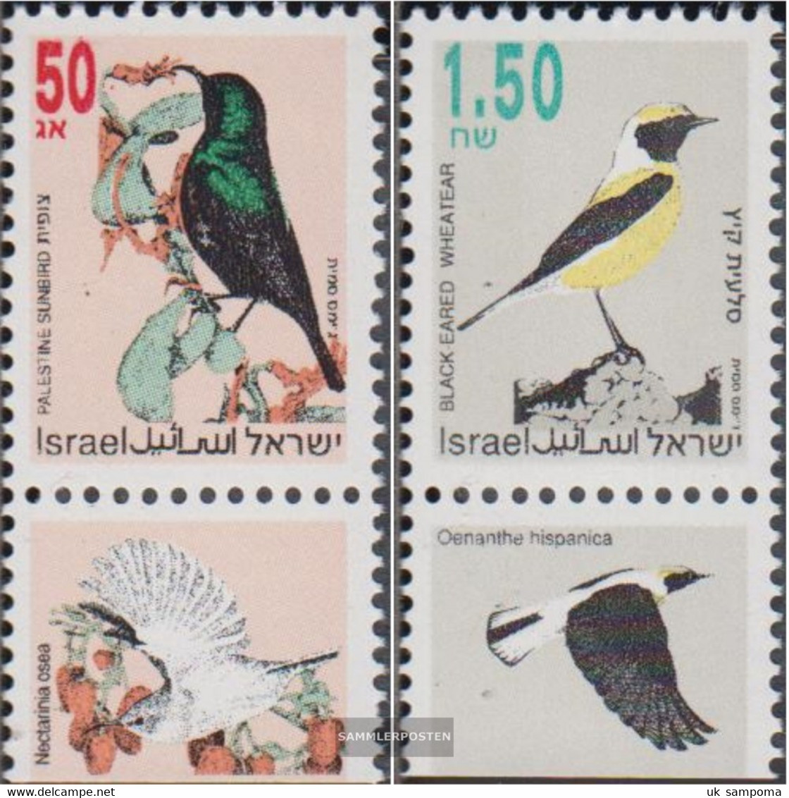 Israel 1257-1258 With Tab (complete Issue) Unmounted Mint / Never Hinged 1993 Songbirds - Unused Stamps (with Tabs)