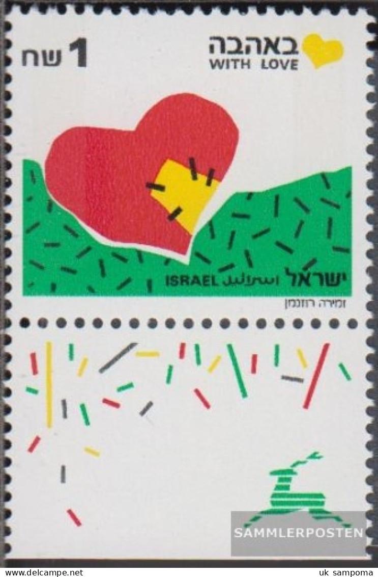 Israel 1166I With Tab, 1 Phosphor Strips Unmounted Mint / Never Hinged 1990 Grußmarken - Israel