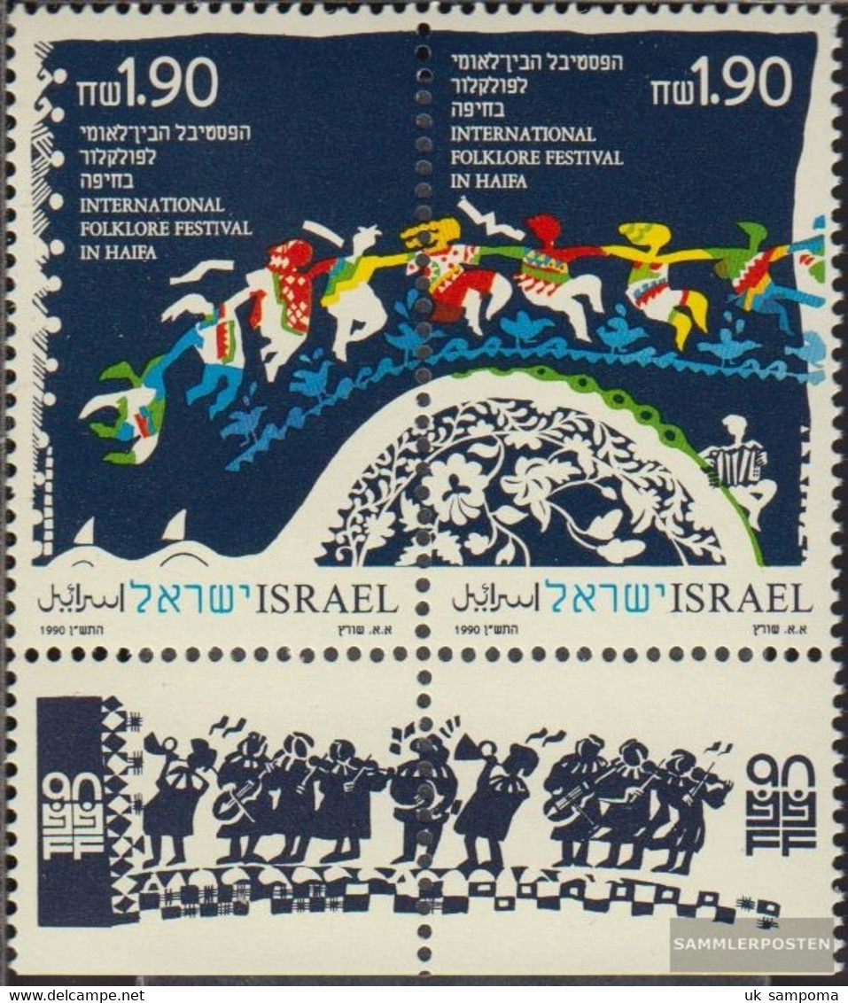 Israel 1160-1161 Couple With Tab (complete Issue) Unmounted Mint / Never Hinged 1990 Folklorefestival - Israel