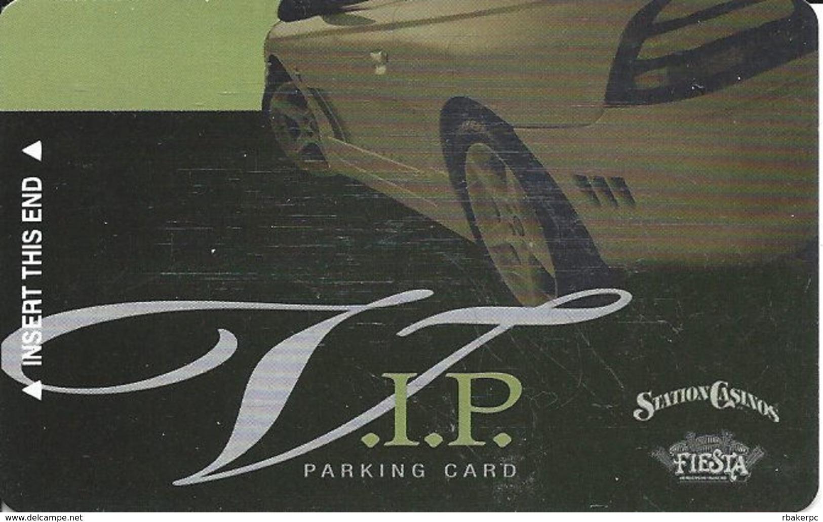 Station Casinos - VIP Parking Card Copyright 2006 - 7 Logos On Back - Casino Cards