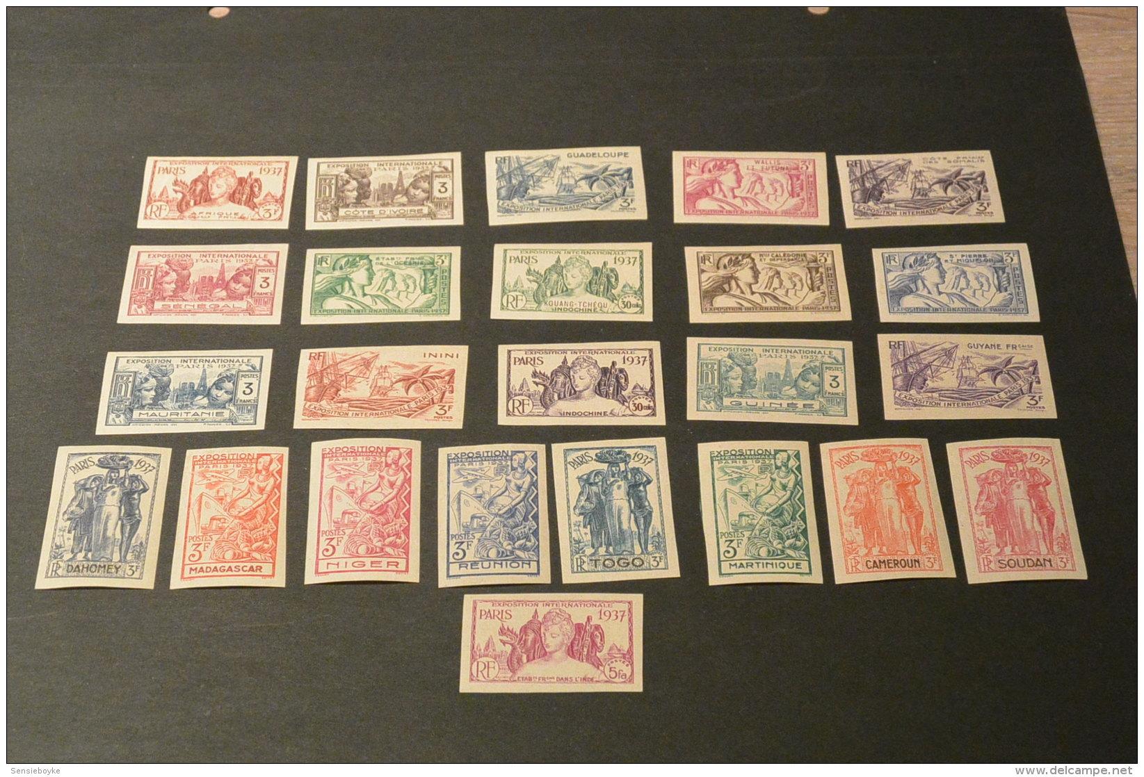 K12842- Set From Blocs -imperf. MNh - Some Gum Disturbaznce -  Exposition Internationale Paris 1937- - 1937 Exposition Internationale De Paris